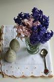 Påskgarnering med hyacinten Royaltyfria Bilder