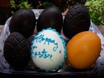 Påskhälsningar på ägget med 6 andra Royaltyfri Fotografi