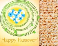 Påskhögtid - vårferie i judendom stock illustrationer