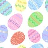 Påskillustration, sömlösa ägg bakgrund, vektortapet Vektor Illustrationer
