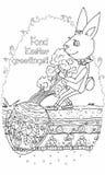 Påskkanin och ägg som en morot Royaltyfri Illustrationer