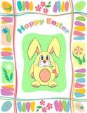 Färgrikt påskkort Royaltyfri Bild