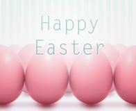 Påskkort med rosa ägg royaltyfri foto