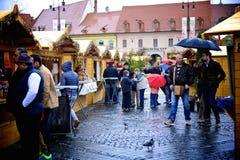 Påskmarknad i Sibiu Arkivbilder