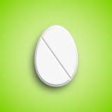 Påskmedicinpreventivpiller i äggform royaltyfri illustrationer