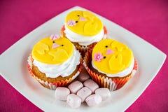 Påskmuffin och sötsaker Royaltyfria Bilder