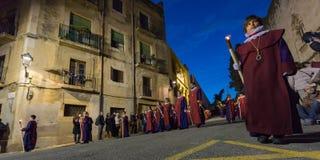 Påskprocession i Tarragona, Spanien Royaltyfri Foto