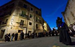 Påskprocession i Tarragona, Spanien Royaltyfri Fotografi