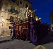 Påskprocession i Tarragona, Spanien Royaltyfria Bilder