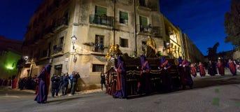 Påskprocession i Tarragona, Spanien Royaltyfria Foton