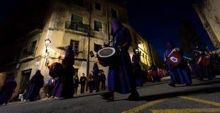 Påskprocession i Tarragona, Spanien Royaltyfri Bild