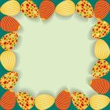 Påskram med målade ägg Fotografering för Bildbyråer