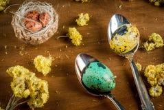 Påskstilleben med ägg Royaltyfri Foto