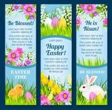 Påskvektorbaner för påsk- hälsningar stock illustrationer