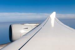 Påskynda och turbinen av ett flygplan Fotografering för Bildbyråer