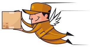påskyndad deliveryman stock illustrationer