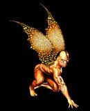 påskyndad demon royaltyfri illustrationer