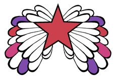 påskyndad röd stjärna för kulör pop Royaltyfri Bild