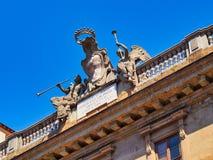 Påskyndade Angel Detail av Florence Church, Italien royaltyfri bild