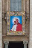 Påvar John XXIII och John Paul II som ska kanoniseras Royaltyfria Foton