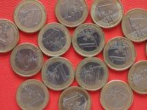 Påve Benedict XVI 50 cent mynt Arkivbild