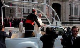 Påve Bergoglio Francesco i Florence Royaltyfri Bild