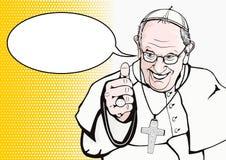Påve Francis vektor illustrationer