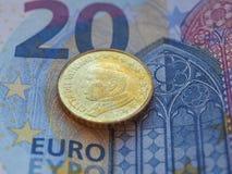 Påve John Paul II 50 cent mynt Royaltyfria Bilder