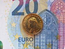 Påve John Paul II 50 cent mynt Arkivbilder