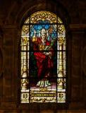 Påve milt I, helgon och martyr - målat glass arkivfoton