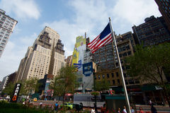 Påve New York på väggen Royaltyfria Foton