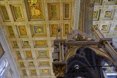 Påvlig basilika av St Paul utanför väggarna i Rome royaltyfria bilder