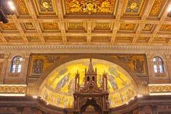 påvlig paul för basilica saint Arkivbild