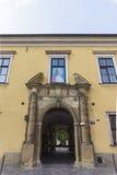 Påvligt fönster i Krakow Fotografering för Bildbyråer