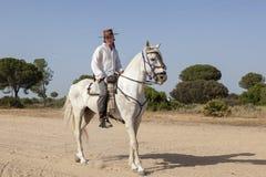 Pèlerin à cheval en EL Rocio, Espagne Photo libre de droits