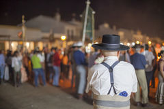 Pèlerin en EL Rocio, Andalousie, Espagne Photographie stock libre de droits