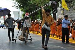 Pèlerinage bouddhiste Images libres de droits