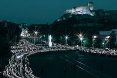 Pèlerinage vers Lourdes photographie stock libre de droits