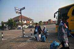 Pèlerins d'Indonésie Images stock