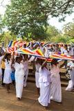 Pèlerins dans Anuradhapura, Sri Lanka Images stock
