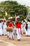 Pèlerins dans Anuradhapura, Sri Lanka Photo libre de droits