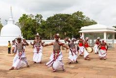 Pèlerins dans Anuradhapura, Sri Lanka Photographie stock libre de droits
