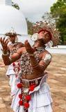 Pèlerins dans Anuradhapura, Sri Lanka Images libres de droits