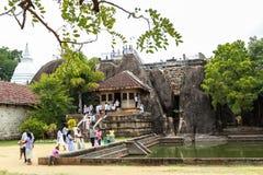 Pèlerins dans Anuradhapura, Sri Lanka Image libre de droits