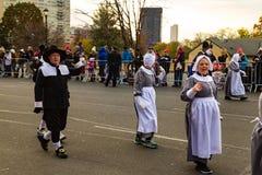 Pèlerins dans le défilé de thanksgiving de Philly Photographie stock libre de droits