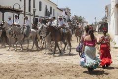Pèlerins en EL Rocio, Andalousie, Espagne Photos libres de droits
