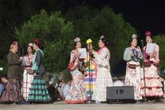 Pèlerins en EL Rocio, Andalousie, Espagne Photos stock