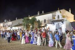 Pèlerins en EL Rocio, Andalousie, Espagne Image stock