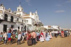 Pèlerins en EL Rocio, Andalousie, Espagne Image libre de droits