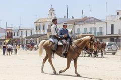 Pèlerins en EL Rocio, Andalousie, Espagne Photographie stock